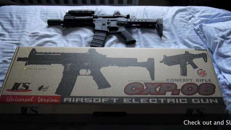 Examen et déballage du fusil ICS CXP.08 Airsoft
