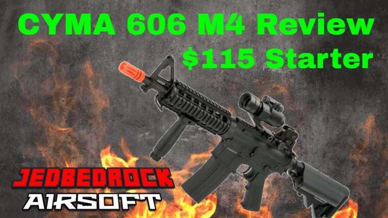 Revue Airsoft CYMA 606 M4 ||  Pistolet airsoft de démarrage pour 115 $