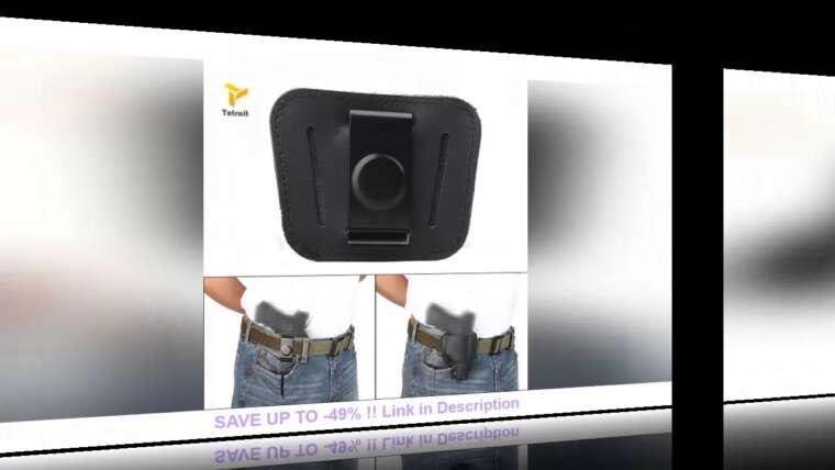 Donner votre avis sur Étui de pistolet dissimulé IWB OWB Pochette en cuir pour pistolet Airsoft Sac de chasse pour arme de poing