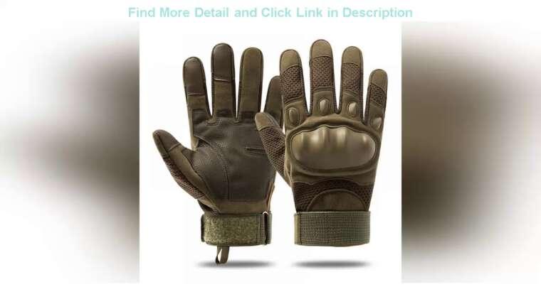 ☝Review Écran Tactile Armée Militaire Tactique Gants Hommes Combat Airsoft Sport De Plein Air Gants Vélo