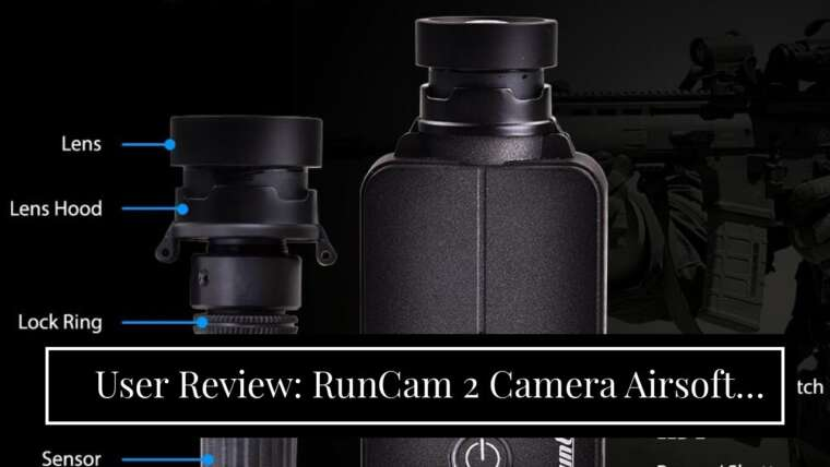 Examen des utilisateurs: RunCam 2 Camera Airsoft Version Gun Camera Scope Camera Objectif 35mm 1080P Built-in W …