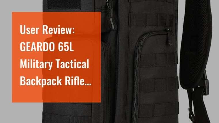 Avis d'utilisateur: GEARDO 65L Sac à dos tactique militaire pour fusil Sacoche Airsoft avec taille Be …