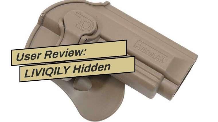 Examen des utilisateurs: LIVIQILY Hidden Carry Clip Holster IWB Holster Belt Airsoft Gun Pistol Holster Lef …
