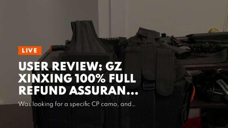 Examen des utilisateurs: GZ XINXING 100% Full Refund Assurance Tactical Airsoft Paintball Vest