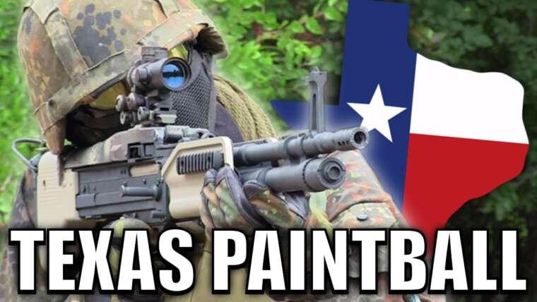 Un jeu rapide d'airsoft – Texas Paintball