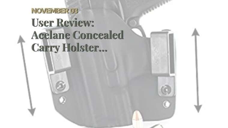 Examen des utilisateurs: Holster de transport dissimulé Acelane Universal OWB IWB Gun Holster Airsoft Pistol Handg …