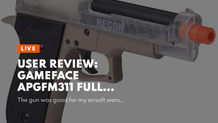 Revue d'utilisateur: GameFace APGFM311 Full Metal GFM311 Pistolet Airsoft à un coup à ressort, Bla …