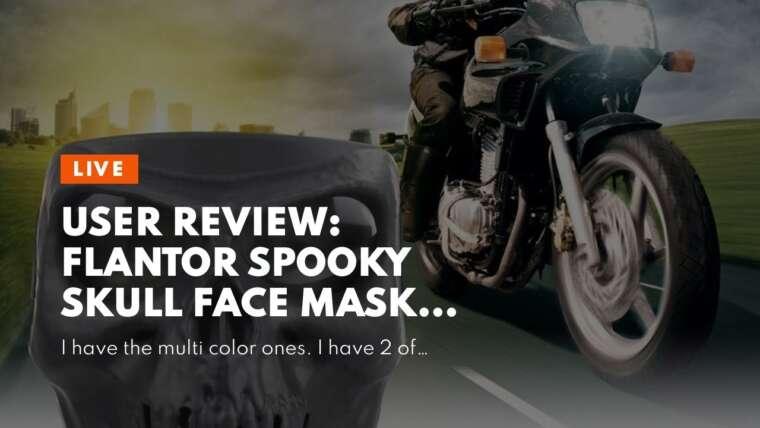 Avis d'utilisateurs: Masque facial Flantor Spooky Skull pour lentille polarisée Airsoft Paintball Motor Racing