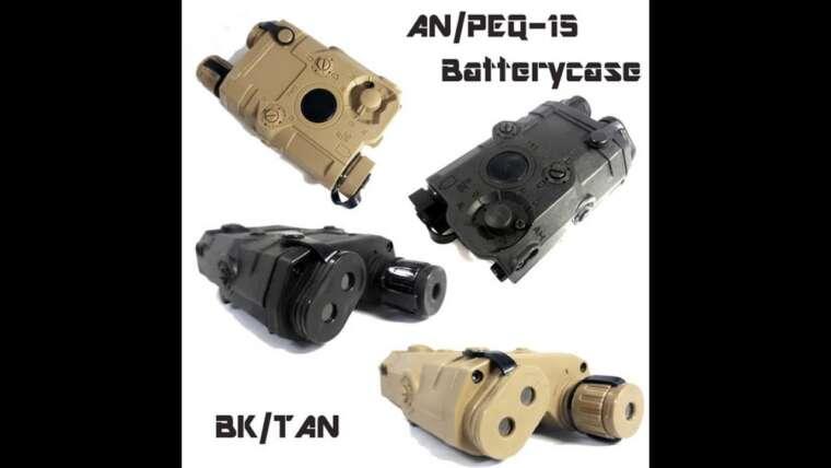 Avis d'utilisateurs: Boîtier de batterie factice Airsoft PEQ-15 Style pour AEG GBB CQB (noir)