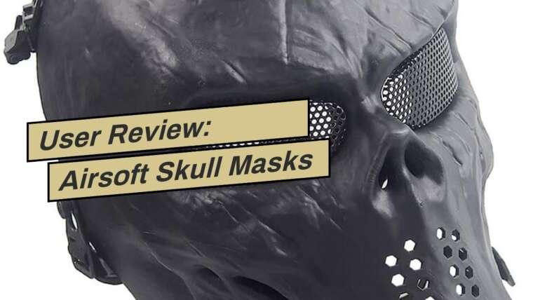 Avis d'utilisateur: Airsoft Skull Masks Full Face – Effrayant Halloween Ghost Mask – Tactical Mask Skeleto …
