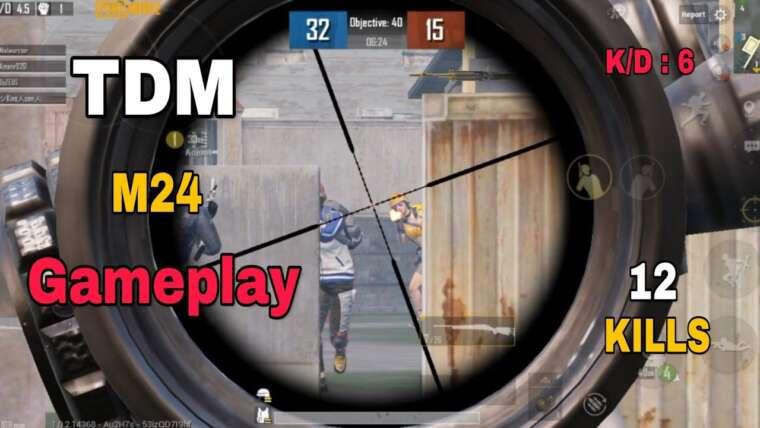 Gameplay Tdm M24 dans PUBG Mobile |  Gameplay de Sniping Pubg |  Tdm m24 uniquement
