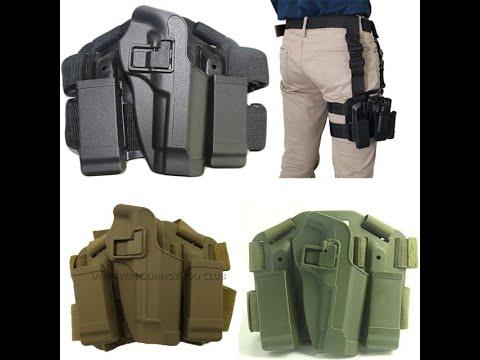 Revue d'utilisateur: Holster de jambe de baisse pour pistolet – Holster de pistolet Airsoft de cuisse tactique droitier wi …