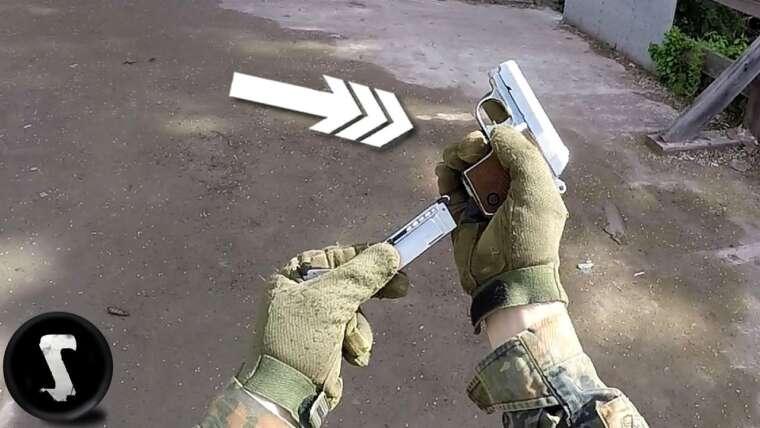 Humilier les joueurs Airsoft avec le petit pistolet Noob