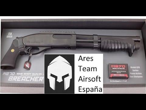 """""""La revue"""" Breacher M870 Airsoft, opinion honnête et non censurée!  (ESP)[ Ares Team Airsoft ]"""