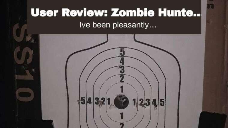 Avis d'utilisateur: Pack cible Zombie Hunter avec pistolet Airsoft et accessoires, noir et clair (Bl …