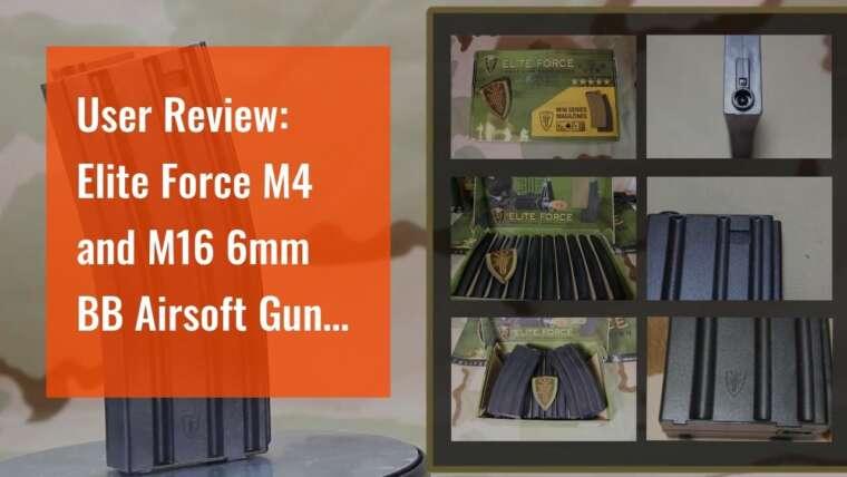Revue d'utilisateur: Elite Force M4 et M16 6 mm BB Airsoft Gun Magazine, noir (140 coups), paquet de 10