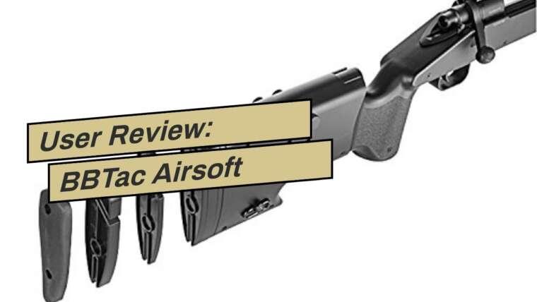 Avis d'utilisateur: BBTac Airsoft Sniper Rifle M61 – Bolt Action Powerful Spring Airsoft Gun, Extreme …