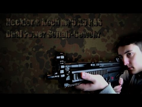 Airsoft Review – Fusil Airsoft Dual Power Heckler & Koch MP5 A5 RAS – Allemand [UNBOXING]