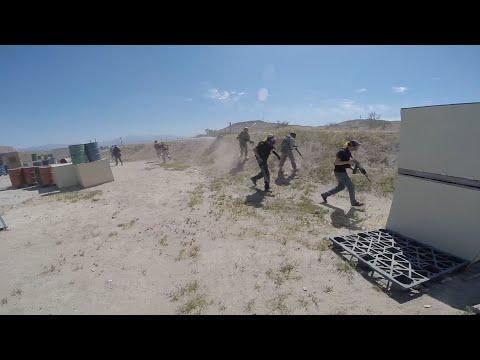 Code Red Airsoft 04/04/15 Trois points de vue vidéo!  KWA SR10 Polarstar APS UAR Troy M4