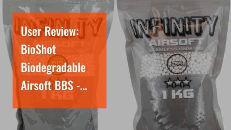Revue d'utilisateur: BioShot biodégradable Airsoft BBS – .45g Super Slick Seamless Sniper Weight Compet …
