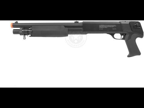 Avis d'utilisateur: Double Eagle 350 FPS M401 Pump Action Spring Powered Airsoft Shotgun w / 6mm BBS