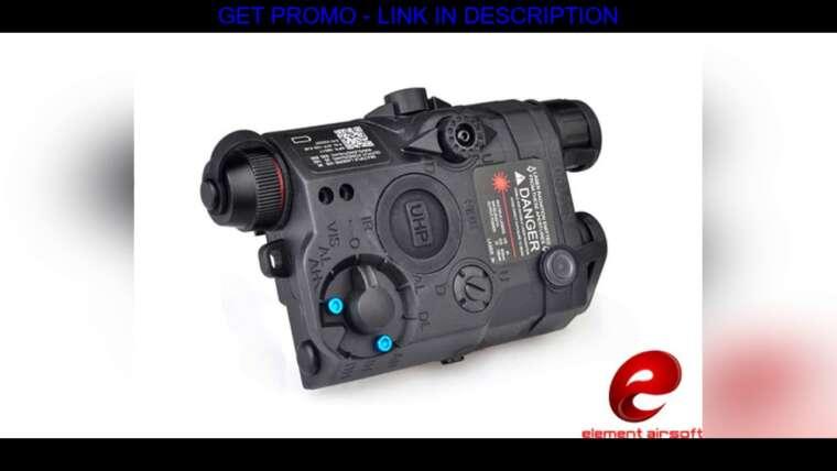 Évaluer Airsoft Element Arme PEQ 15 / LA-5C UHP Apparence de la lumière tactique Rouge Laser Dot Light Soft