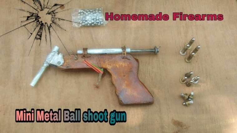 Pistolet maison    Comment faire un mini pistolet à balle en métal (#Homemade Hunting gun)