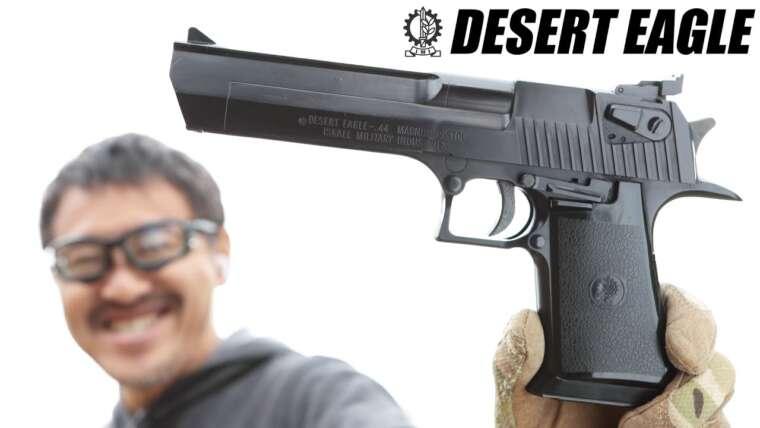 Pistolet à gaz à glissière fixe Desert Eagle .44 Magnum comparé aux pistolets à air usagés Fréon 12 et 134a Tokyo Marui
