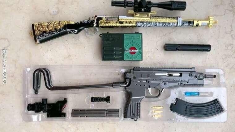 Armes à feu de tireur d'élite Awm, Groza et M416 |  PUBG Toy Guns Unboxing 2020