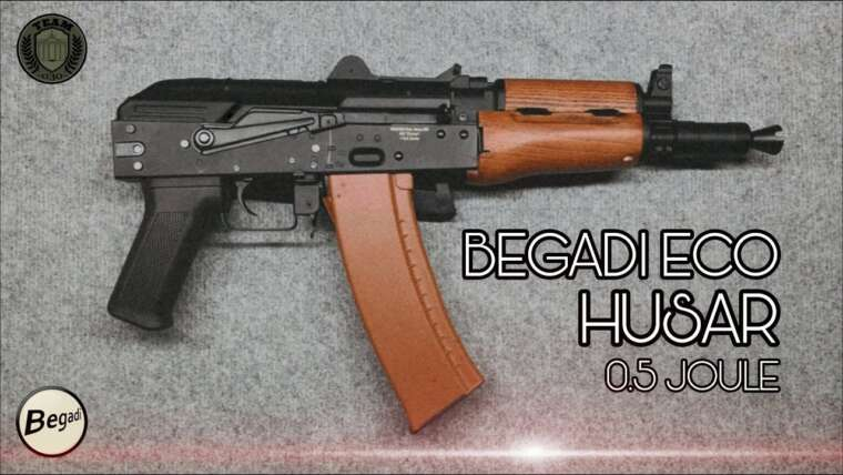 [REVIEW] BEGADI Eco HUSAR AK74 U 0,5 Joule Test Airsoft, course courte TEAM-030-AIRSOFT