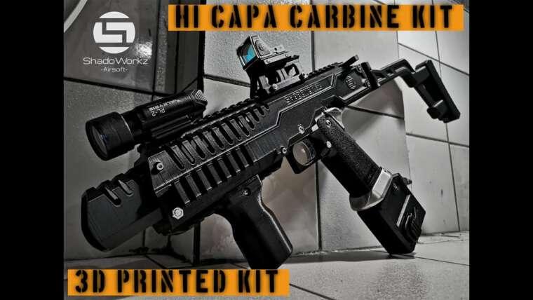 Kit de carabine Hi CaPa    Imprimé en 3D    SW01 Gen2    Airsoft