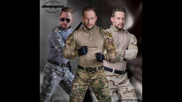 Avis consommateur: SINAIRSOFT Tactical Pants Shirt avec genouillères Army Airsoft Combat BDU Pants S …