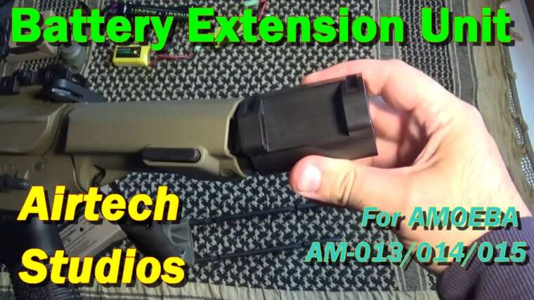 [AIRSOFT] Revue N ° 89 – BEU [Battery Extension Unit] pour Amoeba AM-013/014/015 (AIRTECH Studios)