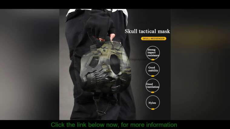 Donner votre avis sur Airsoft Paintball Crâne Masque Tactique Sports de Plein Air Moto Cyclisme Tir Chasse Mas