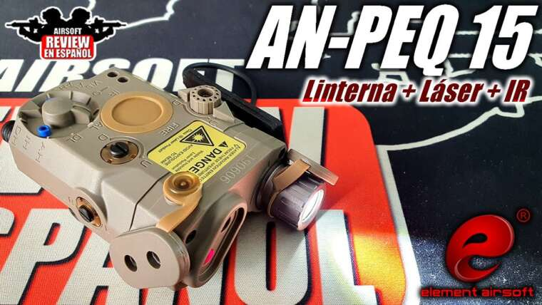 Element AN / PEQ 15 – Lampe de poche tactique infrarouge IR / laser |  Revue Airsoft en espagnol
