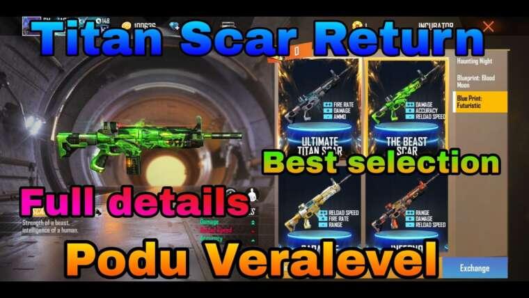 Titan Scar retourne les nouveaux événements de l'incubateur Freefire en tamoul