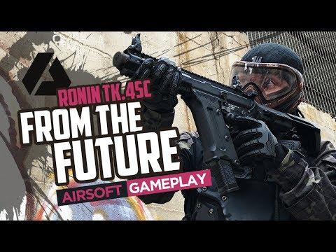 Le fusil du FUTUR    Pistolet KWA TK45c AR – Gameplay et critique en espagnol