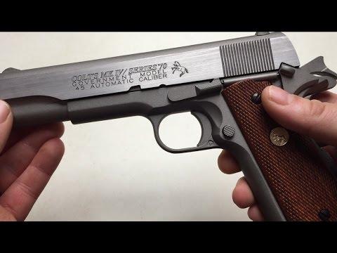 Cybergun Colt MK IV Series 70 Review / Test Co2 6mm BB Airsoft