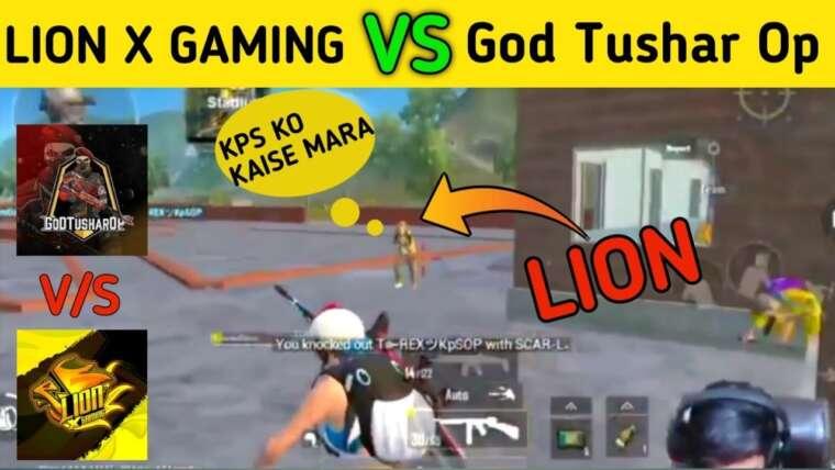 @LION x GAMING Vs @GoDTushar Op    LION X GAMING & GoD Tushar OP dans le même match    MT ANSH.
