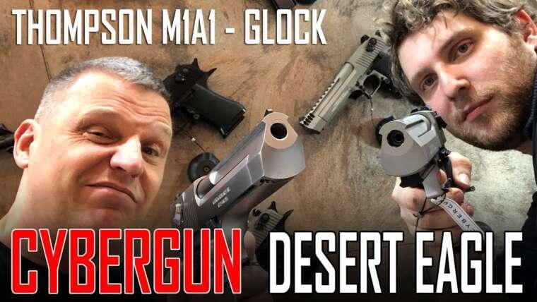 IWA 2018 – AIRSOFT Cybergun WE Desert Eagle GBB    WE Thompson M1A1 GBB    Deutsch