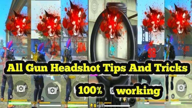 Headshot trucs et astuces en tir libre 💯 |  Comment faire la tête dans Mp40, AK, M4A1, M1887, P90, Thompson, XM8