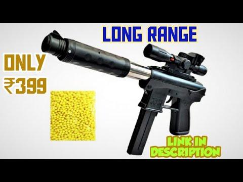 Pistolet à longue portée Airsoft |  Déballage, examen et tests |  Seulement 399 ₹ |  Le monde SK