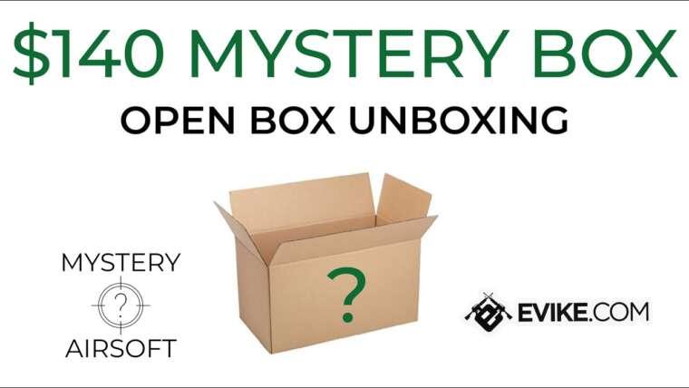 Annonce de cadeau et déballage Mystery Box à 140 $ – Evike Airsoft