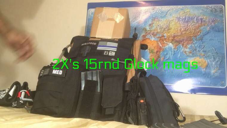 Poor Man Plate Carrier mis en place pour TEOTWAWKI … ou airsoft.