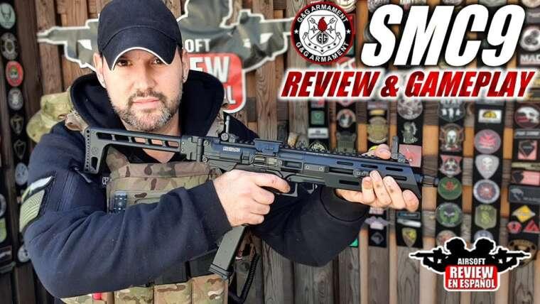 Pistolet mitrailleur SMC9 G&G GBB – l'un des meilleurs que j'ai jamais essayé!  |  Revue Airsoft en espagnol
