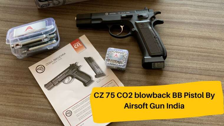 Pistolet CZ 75 CO2 Blowback BB par Airsoft Gun Inde