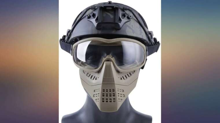 H World Shopping Airsoft Tactical Paintball Face Mask with Goggles Review