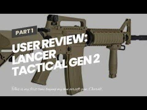Avis d'utilisateur: Lancer Tactical Gen 2 Upgrade RIS LT-04 AEG Metal Gear Airsoft Gun, Dark …