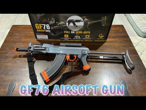 GF76 Unboxing et examen du pistolet Airsoft entièrement automatique alimenté par batterie