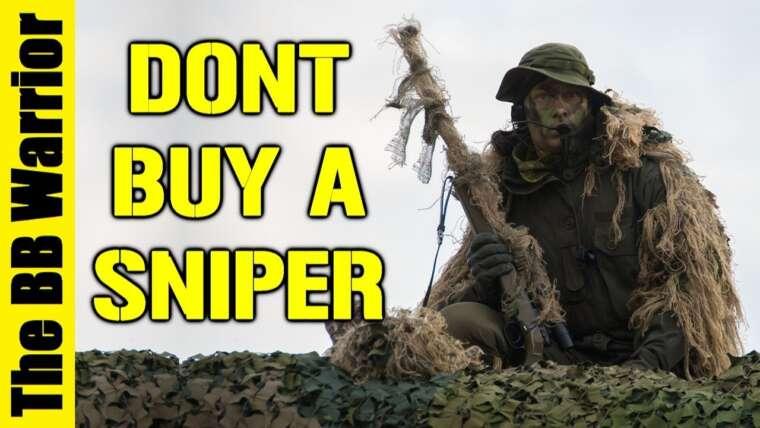Pourquoi vous ne devriez pas acheter un fusil de sniper Airsoft comme premier pistolet!